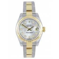 Rolex Lady-Datejust White mop/Diamond Oyster 179173