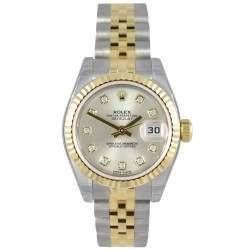 Rolex Lady-Datejust Silver/Diamond Jubilee 179173
