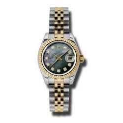 Rolex Lady-Datejust Black mop/Diamond Jubilee 179173