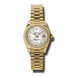 Rolex Lady-Datejust White mop/Diamond President 179178