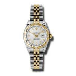 Rolex Lady Datejust Steel & Yellow Gold Silver/index Jubilee 179313