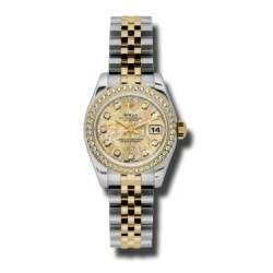 Rolex Lady-Datejust Gold Crystals Jub/Diamond Jubilee 179383