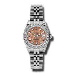 Rolex Lady-Datejust Pink Gold Crystals/Diamond Jubilee 179384