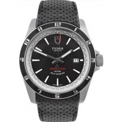 Tudor Grantour Date Black Dial Leather Strap 20500N