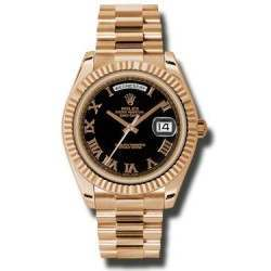 Rolex Day-Date II Black Roman President 218235