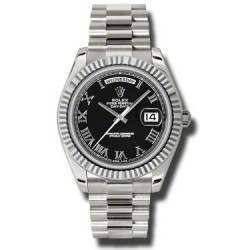 Rolex Day-Date II Black Roman President 218239