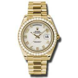 Rolex Day-Date II Ivory Arab Concentric President 218348