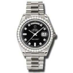 Rolex Day-Date II Black/Diamond President 218349