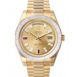 Rolex Day-Date II Champagne/diamond & Rubies President 218398 BR