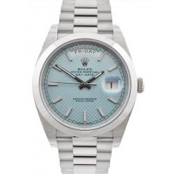Rolex Day Date 40 Ice Blue/ Index Platinum 228206