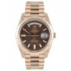 Rolex Day-Date 40 Choco/ Diamond President Rose Gold 228235