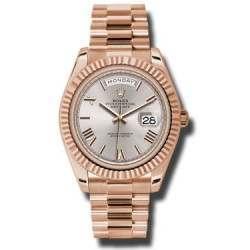 Rolex Day-Date 40 Sundust/Roman President Rose Gold 228235