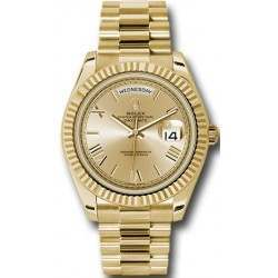 Rolex Day Date Champagne/ Roman Yellow Gold 228238