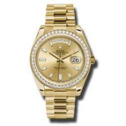 Rolex Day Date Champagne/ Diamods Yellow Gold 228348RBR