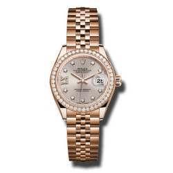 Rolex Lady Datejust 28 Everose gold Sundust/Diamonds Jubilee 279135RBR
