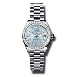 Rolex Lady Datejust 28 Platinum Ice Blue 279136RBR