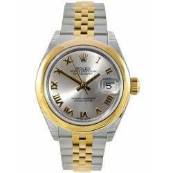 Rolex Lady-Datejust 28 Silver Dial Jubilee Steel/ Yellow Gold 279163