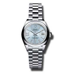 Rolex Lady Datejust 28 Platinum Ice Blue/ Diamond 279166