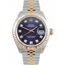 Rolex Lady-Datejust 28 Aubergine/DMD Jubilee Steel/Everose Gold 279171