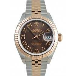 Rolex Lady-Datejust 28 Chocolate/Roman Jubilee Steel/Rose Gold 279171 - 2017