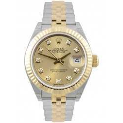 Rolex Lady-Datejust 28 Champagne/ DMD Jubilee Steel/Yellow Gold 279173 - 2018