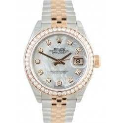 Rolex Lady Datejust 28 Rose Gold White MOP/Diamonds Jubilee 279381RBR