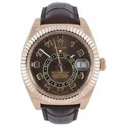 Rolex Sky-Dweller Chocolate Arab Leather 326135