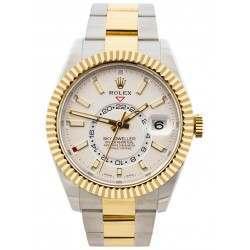 As New Rolex Sky-Dweller White Dial Oyster Bracelet 326933