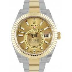 Rolex Sky-Dweller Champagne/ Index Oyster Steel & Yellow Gold 326933
