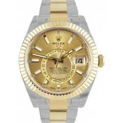Rolex Sky-Dweller Champagne/ Index Oyster Steel & Yellow Gold 326933 - 2018