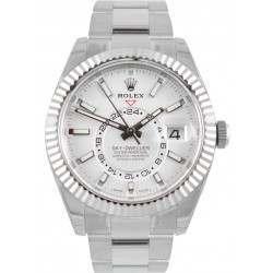 Rolex Sky-Dweller White/ Index Oyster Steel/ White Gold 326934