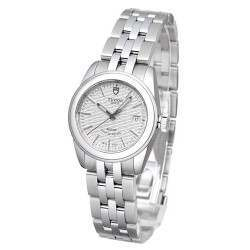 Tudor Glamour Date Silver Pattern Dial 26mm 51000
