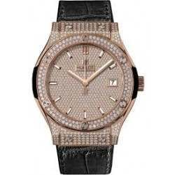 Hublot King Gold Full Pave 521.OX.9010.LR.1704