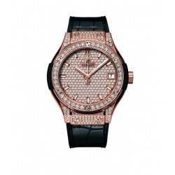 Hublot Quartz In King Gold Full Pave 581.OX.9010.LR.1704