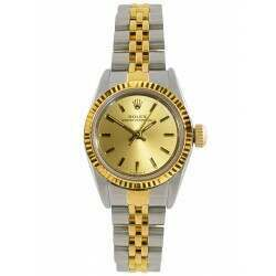 Rolex Oyster Perpetual Ladies 24mm Steel and Yellow Gold 67193