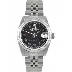 Rolex Datejust 31mm Black/ Roman Jubilee 68274