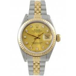 Rolex Lady Datejust Champagne/ 8 Diamonds Jubilee 69173