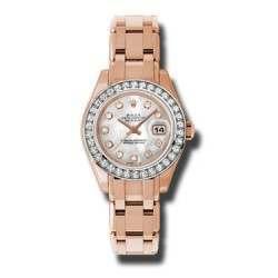 Rolex Pearlmaster Lady Everose Gold White mop/diamond 80285
