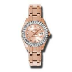 Rolex Pearlmaster Lady Everose Gold Pink/diamond 80285