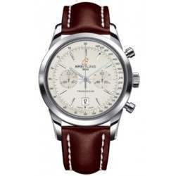 Breitling Transocean Chronograph 38 Caliber 41 Automatic A4131012G757431X