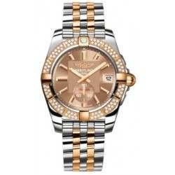 Breitling Galactic 36 Steel  Rose Gold Diamonds Caliber 37 Automatic C3733053Q584376C