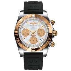 Breitling Chronomat 41 (Steel & Gold) Caliber 01 Automatic Chronograph CB014012.A722.150S