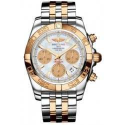 Breitling Chronomat 41 Steel  Gold Caliber 01 Automatic Chronograph CB014012A722378C