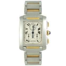 Mint Cartier Tank Francaise Quartz Chronograph W51004Q4