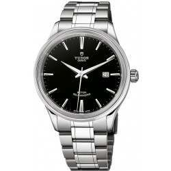 Tudor Style Steel Black Dial 41mm 12700