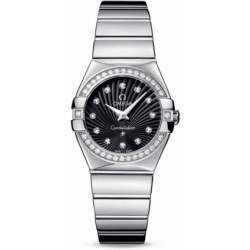 Omega Constellation Polished Quartz Diamonds 123.15.27.60.51.002