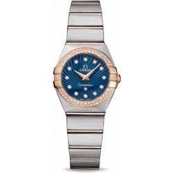 Omega Constellation Brushed Quartz Diamonds 123.25.24.60.53.001
