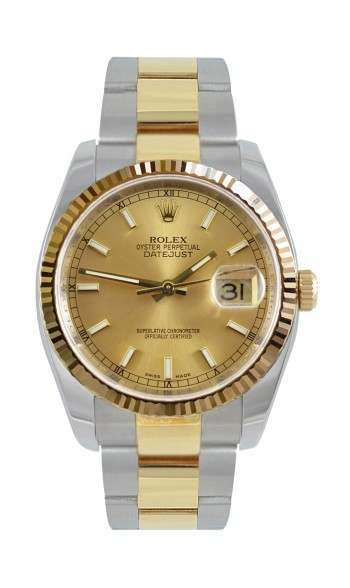 846e1ed39bb Rolex Datejust Champagne/index Oyster 36mm 116233 | Iconic Watches