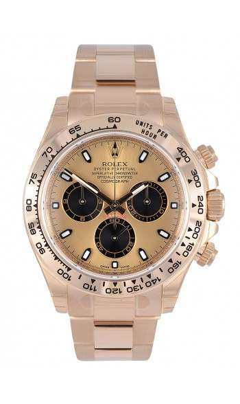 Rolex Cosmograph Daytona Everose Pink Black Index 116505 Iconic