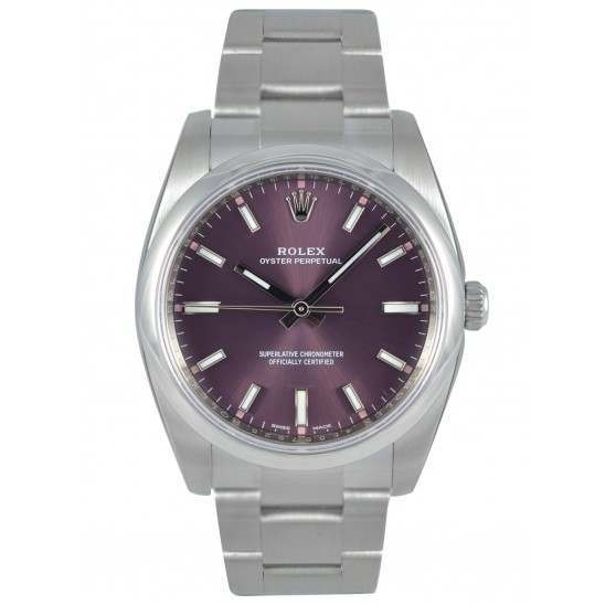Rolex Oyster Perpetual 34 Red Grape/ Index Oyster 114200